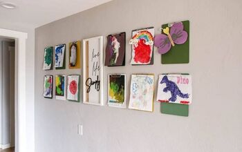 Clipboards On Wall For Hanging Kid's Art