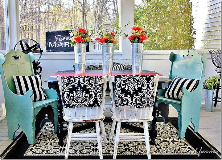 s 18 gorgeous ways to add tons color to your old furniture, How to Paint a Faux Runner On a Table