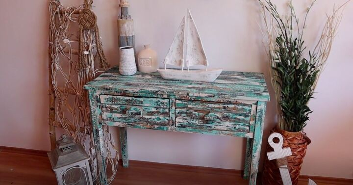 s 18 gorgeous ways to add tons color to your old furniture, Make a New Table Look Vintage With This Paint