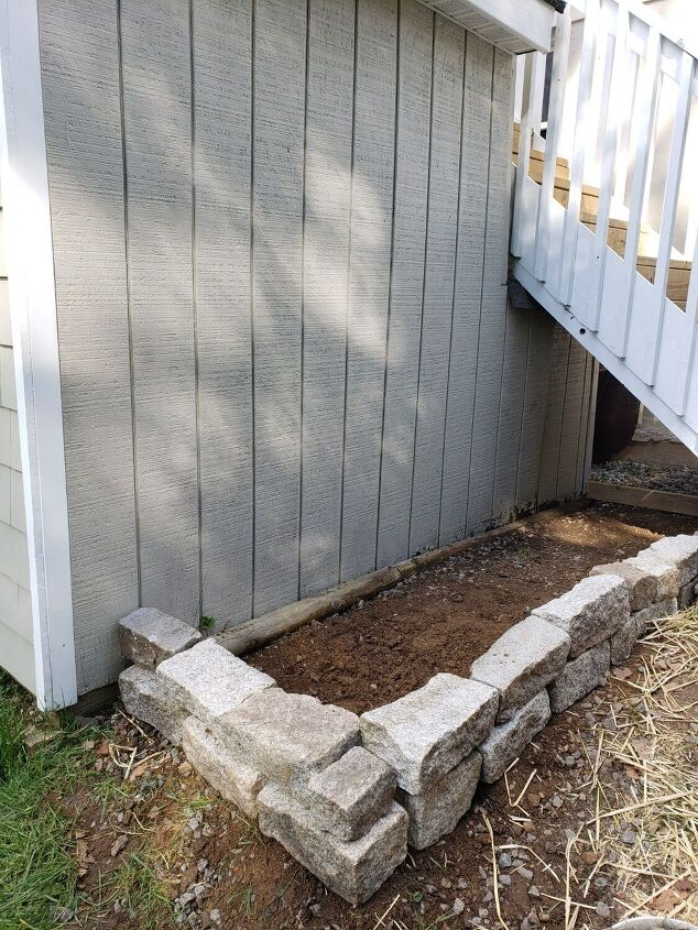 how i turned the space under my deck stairs into a deer proof garden