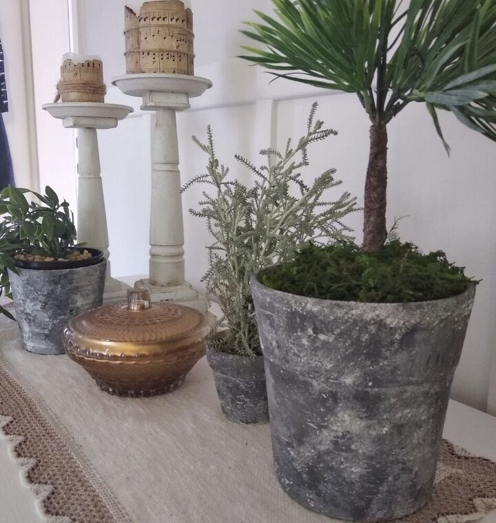 aged flower pots