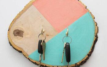 How To Make a Cute DIY Wood Slice Key Holder