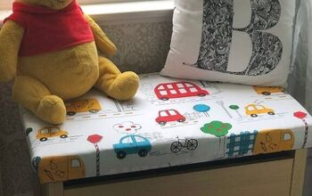 How to Make a DIY Toy Box Seat Cushion
