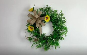 Add a Pop of Color to Your Front Door With a Burlap Sunflower Wreath