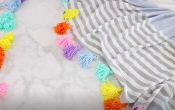 Add Some Festive Flair to an Old Throw Blanket With Homemade Tassels