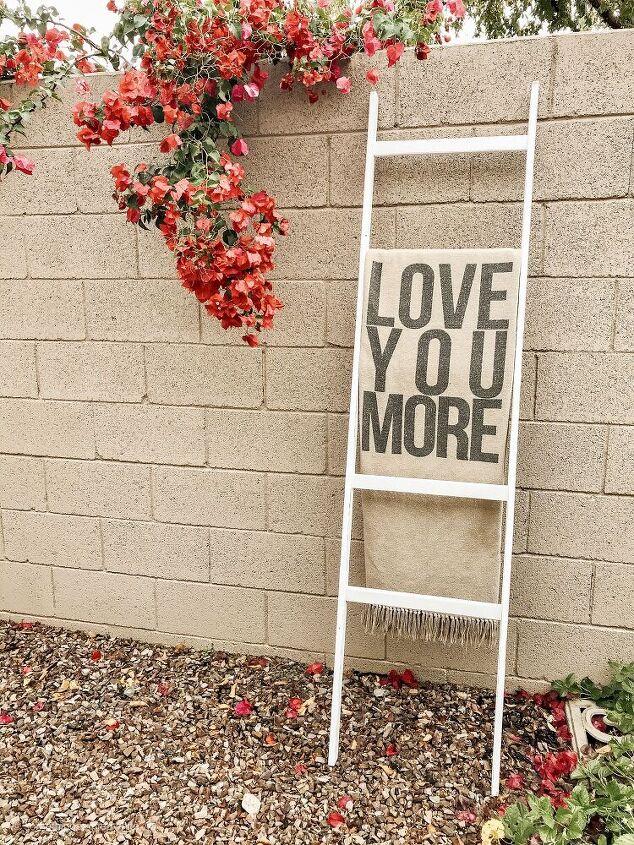 This blanket ladder became a ladder pot rac