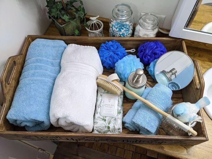 wash up buttercup diy bathroom spa tray