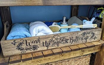 Wash Up Buttercup DIY Bathroom Spa Tray