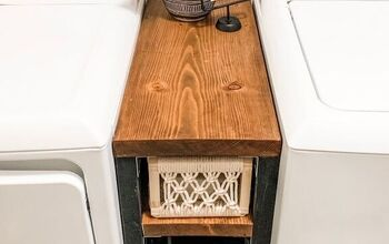 Narrow Storage Table for Laundry Room
