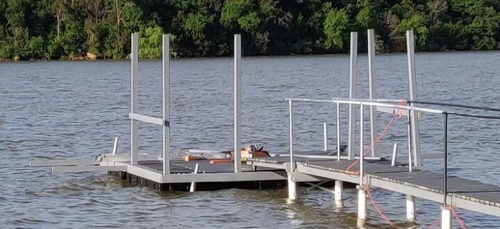 lakeside dock build
