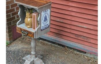 Vintage Phone Table Makeover