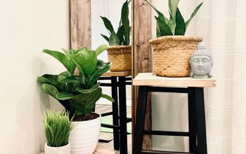 DIY Plant Stands From a Thrifted Bar Stool