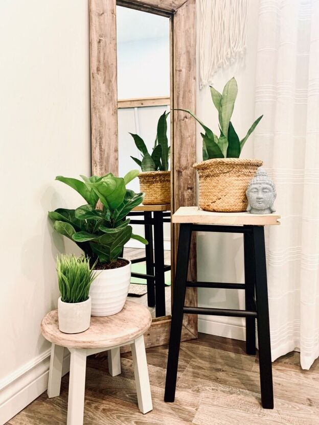 DIY Plant Stands from Thrifted Bar Stools by Home Talk