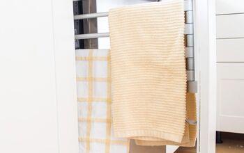 DIY Built-In Towel Rack