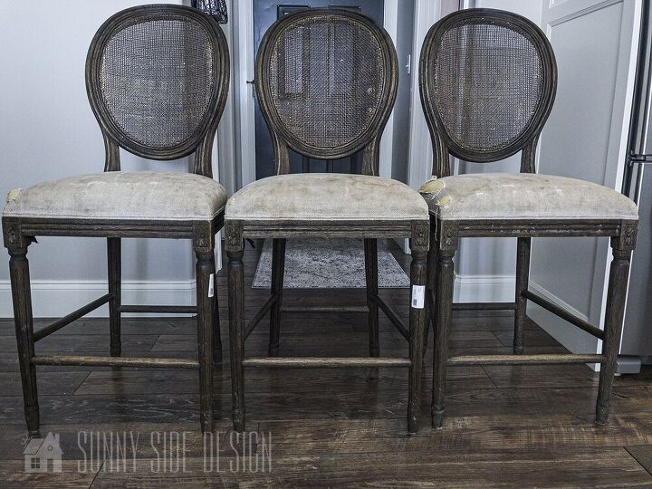 farmhouse bar stool makeover