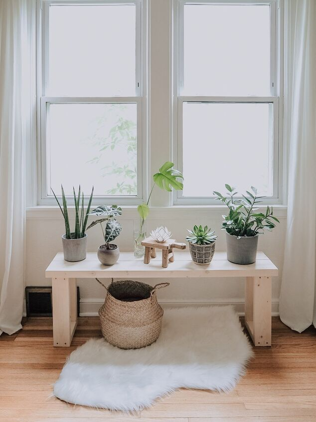 s 14 beautiful pieces of furniture you can make for 50 or much less, DIY Plant Bench in 1 Hour