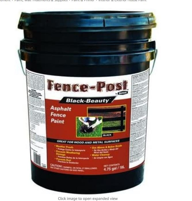 q has anyone used gardner gibson asphalt fence post paint