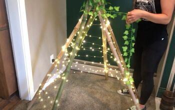 String Together a DIY Teepee Tent With Twinkle Lights
