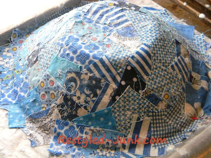 scrap fabric bowl diy
