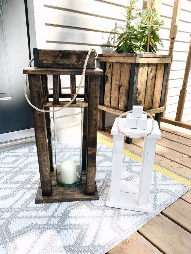 scrap wood porch lanterns
