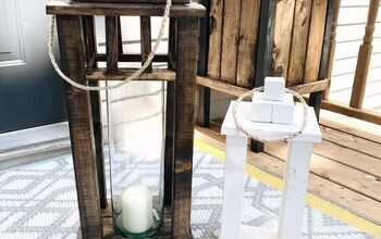 Scrap Wood Porch Lanterns