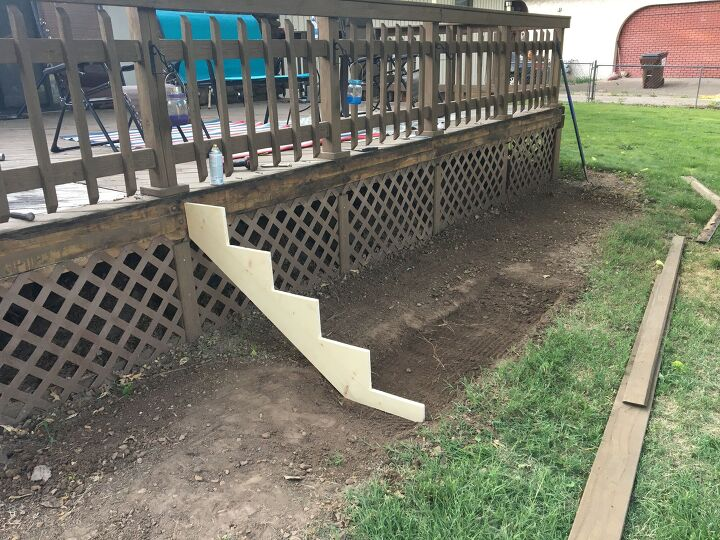 updating my deck part one new wide stairs with a view