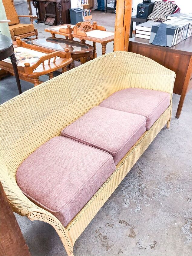 how to paint a wicker couch without a paint sprayer