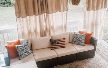 How I Turned Drop Cloths Into Stunning Outdoor Curtains