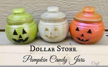 Dollar Tree Pumpkin Candy Jars | Halloween DIYs