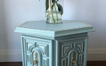 Gaudy to Green and Gold Vintage End Table