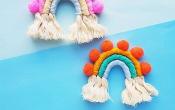 How To Make An Easy Macramé Decorative Rainbow