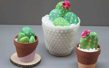 How to Make an Easy DIY Rock Cactus