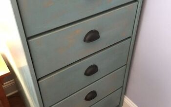 DIY Beachy Weathered Painted Dresser Makeover