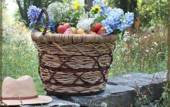 Easy Wicker-Look Waterproof Basket! DIY Garden Craft