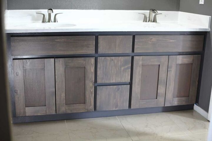 how to make diy cabinet doors and drawer covers for bathroom vanity