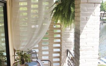 How to Hang Outdoor Sheer Curtains -- AND They Stay Put in the Wind!