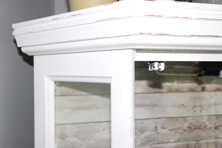 updating my curio cabinet to farmhouse style