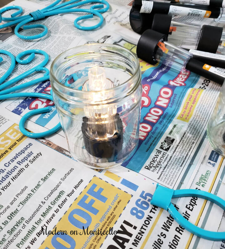 diy upcycled solar wall sconces
