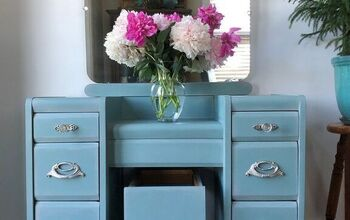 Antique Vanity Painted in Vintage Duck Egg Blue / Driftwood Blending