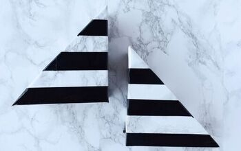 Striped Faux-Marble Bookends