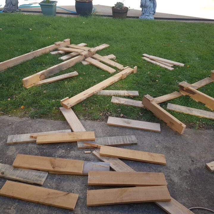diy tiered pallet wood planter