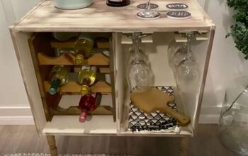 Upcycle an Old Cabinet Into a Stunning DIY Wine Rack