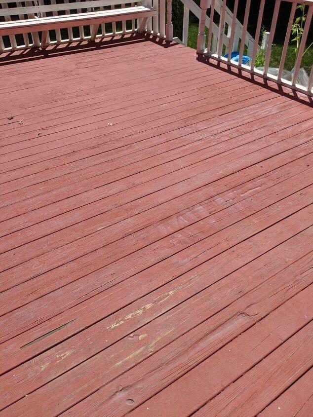 q how to strip behr deck redo paint off deck