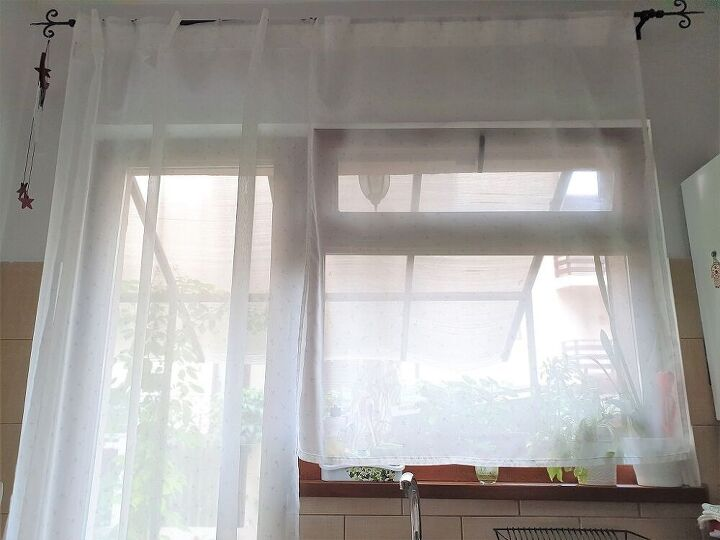 5 minute no sew roller shades, BEFORE