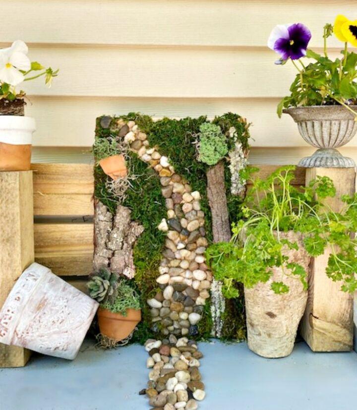 diy moss garden wall art