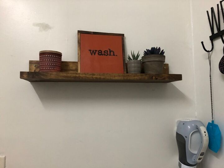 picture ledge shelf out of scrap wood
