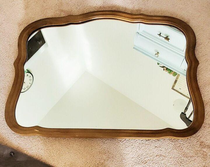diy anthropologie vintage inspired mirror from old dresser mirror