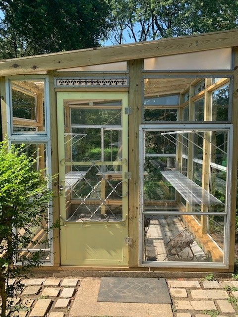 recycled windows make creative green house
