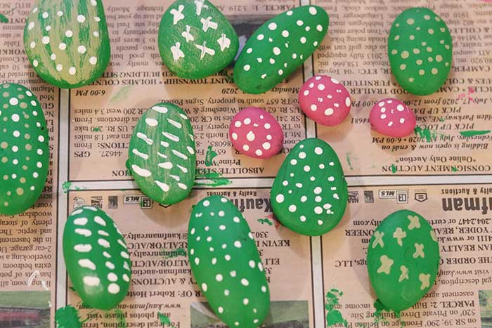 cactus rock garden tutorial