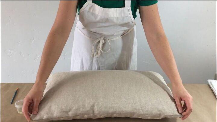 bleached polka dot pillow